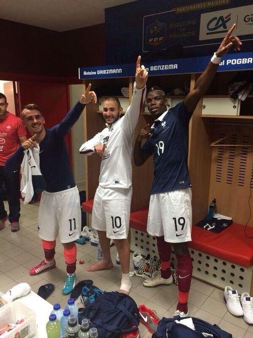 Antoine Griezmann, Karim Benzema, Paul Pogba