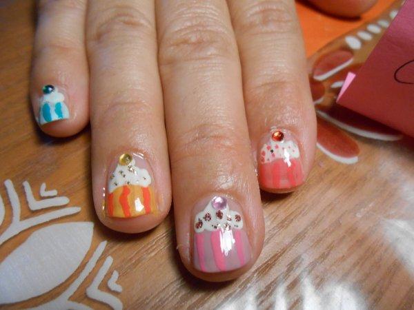 concours gourmandise nail art de tedance nail  art :p
