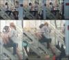 ..  Miley s'amusant sur les escaliers d'un studio avec un inconnu  ..