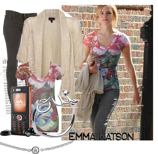 Emma dans Londres avec un ami, en 2007.