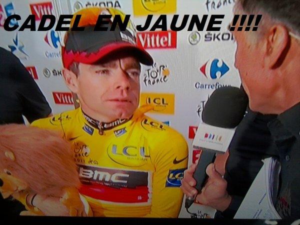 Cadel Evans Maillot jaune !!