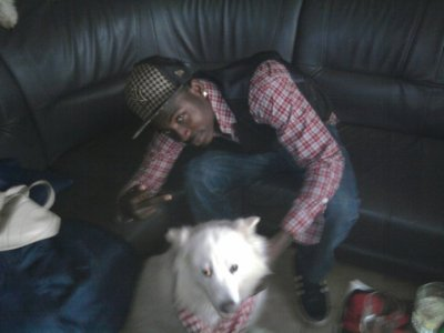 ohh sii sii beau gosse avec son chien
