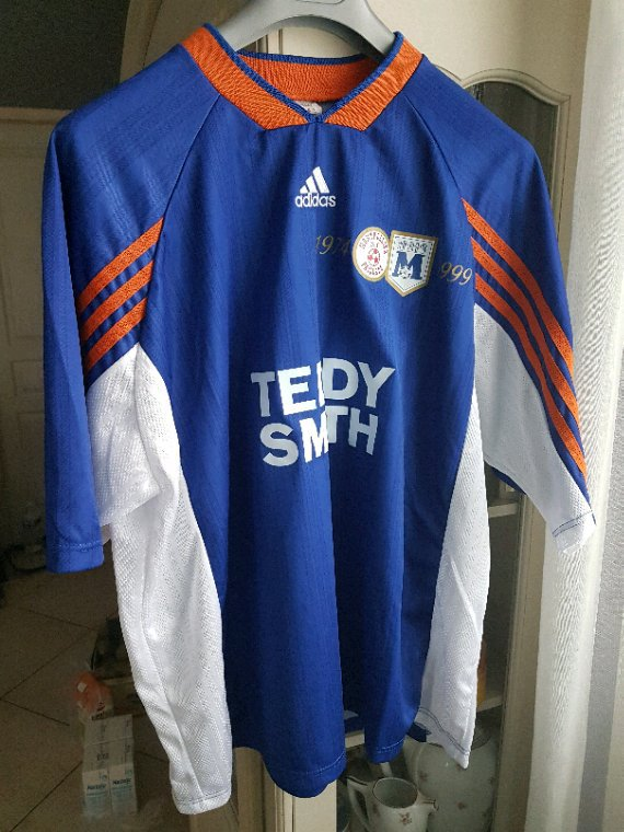 MAILLOT MATCH MONTPELLIER vs ETOILE ROUGE BELGRADE COUPE UEFA 28/09/99 PORTÉ PAR ROMAIN FERRIER