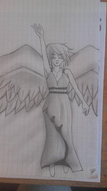 Pour toi ...j'espère que la lumière qui brille dans le coeur de cet ange brillera sur toi