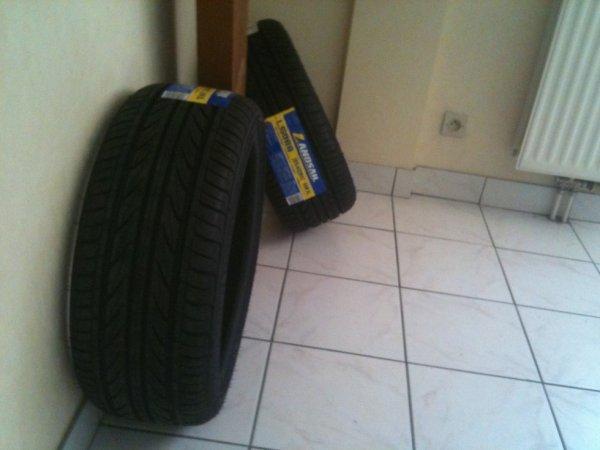 mes nouvo pneus