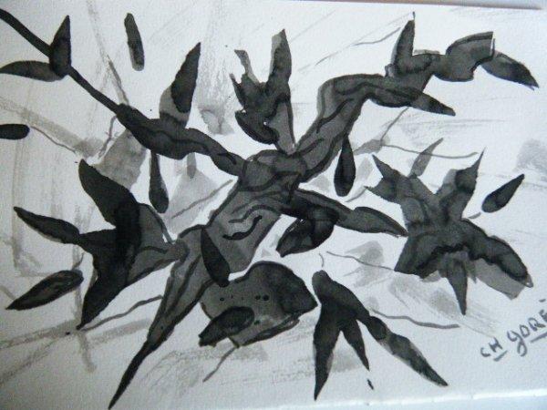 Abstrait noir