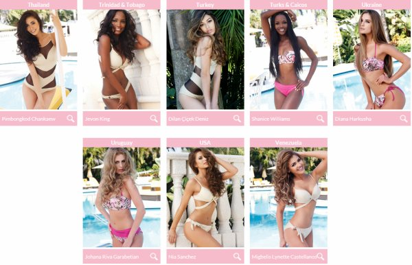 Candidates Miss Univers n°2