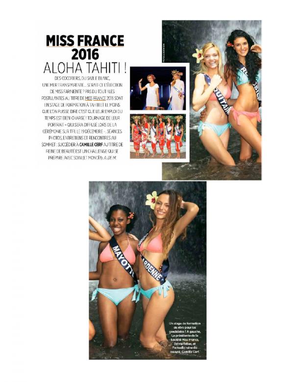 Candidates Miss France 2016 - Gala