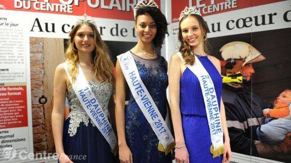 Miss Haute-Vienne 2017 est Aude Destour