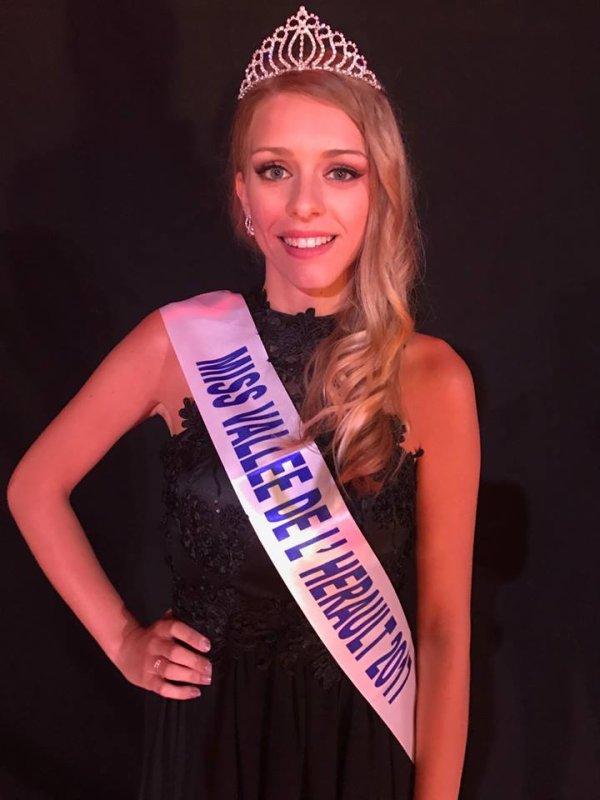 Miss Vallée de l'Hérault 2017 est Clara Dikt