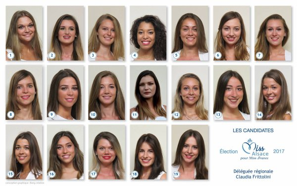 Candidates Miss Alsace 2017