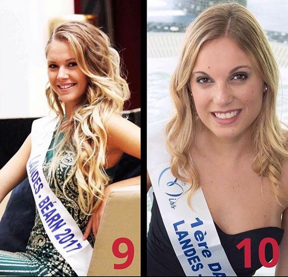 Candidates Miss Aquitaine 2017