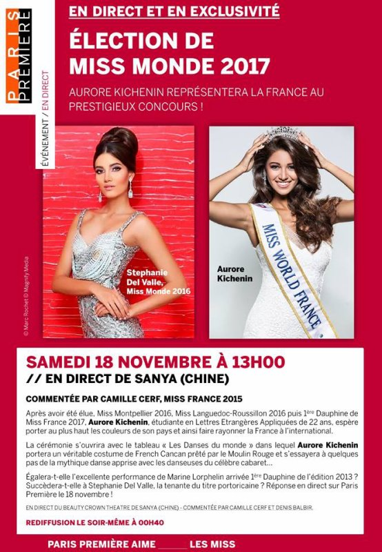 Aurore Kichenin - Election de Miss Monde