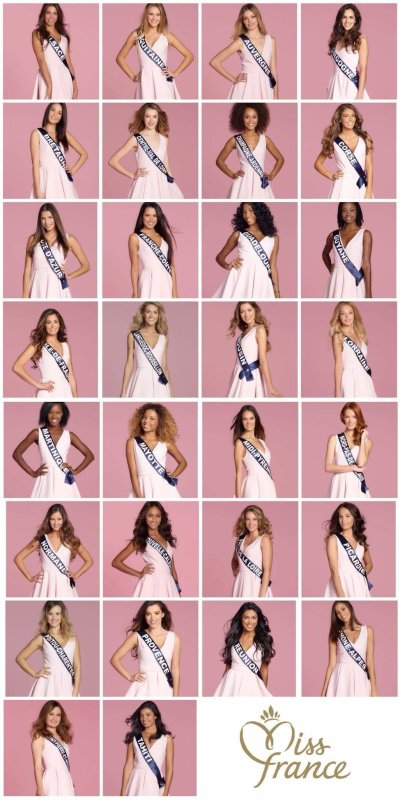 Candidates Miss France 2018