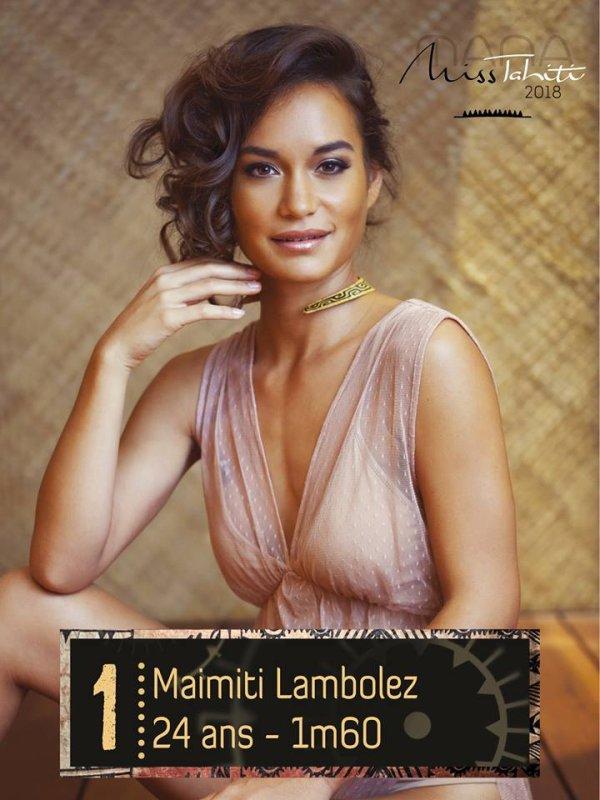 Candidates Miss Tahiti 2018