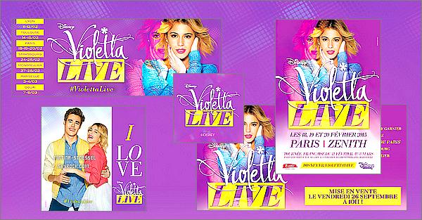 .                                                                                                                                                                                         Découvrez une vidéo de l'officialisation de l'ouverture de la billetterie de #ViolettaLive                                                                                                                                                                                         Postée par DisneyChannelFR, la vidéo nous dis qu'officiellement l'ouverture de la billetterie sera le 26 septembre ! Plus d'infos en-dessous ↓                                                                                                                                                                                            .