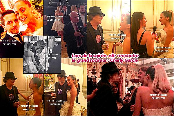 .                                                                                                                                                                                          25/11/14 : Martina & ses parents ont été invités au Gala de la revue Gente à l'Hôtel Alvear - Argentine.                                                                                                                                                                                          Les célébrités connues comme les Personnes de l'Année par le magazine étaient toutes là. Tini était toute blanche comme un Ange. Top !                                                                                                                                                                                       .