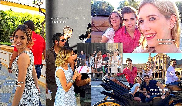 """.                                                                                                                                                                                         14-15/09/14 : Martina & le cast de Violetta étaient en plein tournage dans les rues de Séville (Espagne )                                                                                                                                                                                         Tini profite toujours ses balades à Séville avec ses chers ami(e)s ! Nous nous attendions plutôt à des scènes """"#Leonetta """" dans cette partie...                                                                                                                                                                                        ."""
