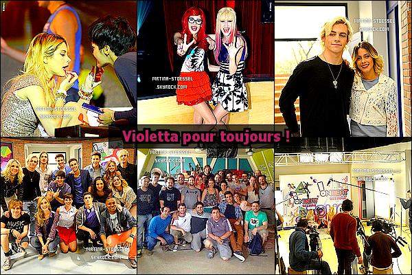 .                                                                                                                                                                                     VIOLETTA - La série phénomène Disney << Violetta >>, suite à 3 saisons, le tournage est bientôt fini ?                                                                                                                                                                                        Un tweet de Joaquin B., disant << Merci infiniment >> serait la fin de Violetta3 ? En attendant, découvrez les dernières photos ci-dessous !                                                                                                                                                                                        .