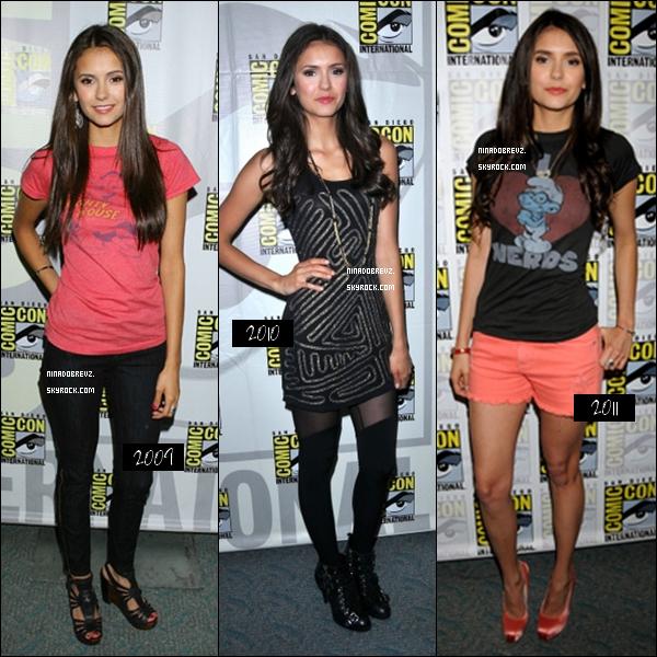 . 23.07.11 : Nina avec les membres du cast de Vampire Diaries étaient présente au Comic Con à San Diego.  .