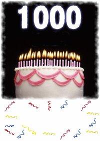 1000 merci pour vos 1000 com