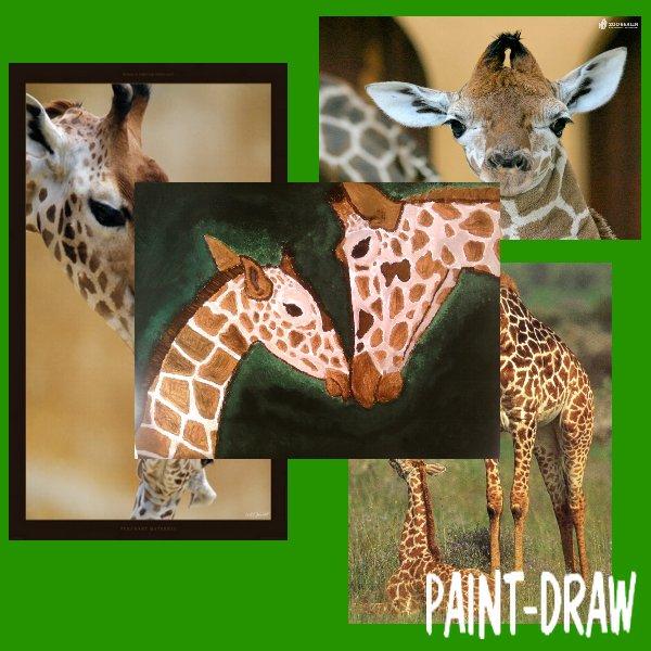 peinture n° 3: girafes.