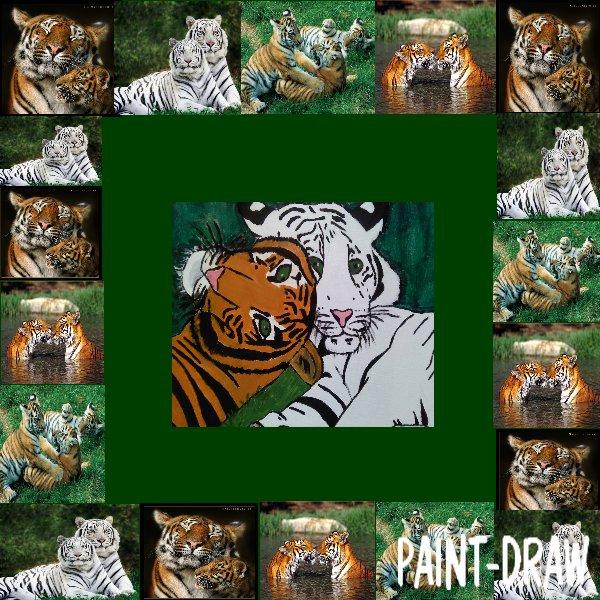 peinture n° 6: tigres amoureux.