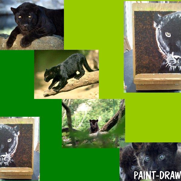 peinture n° 10:  panthère noire..