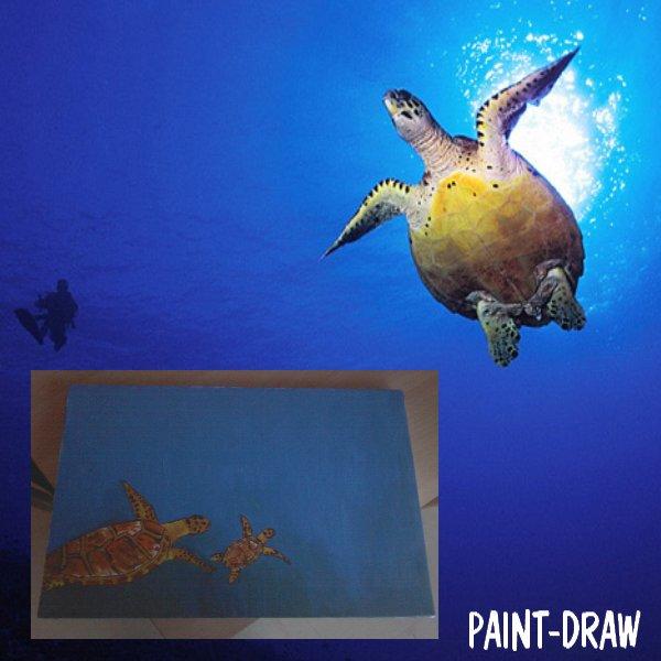 peinture n° 11:tortue de mer.