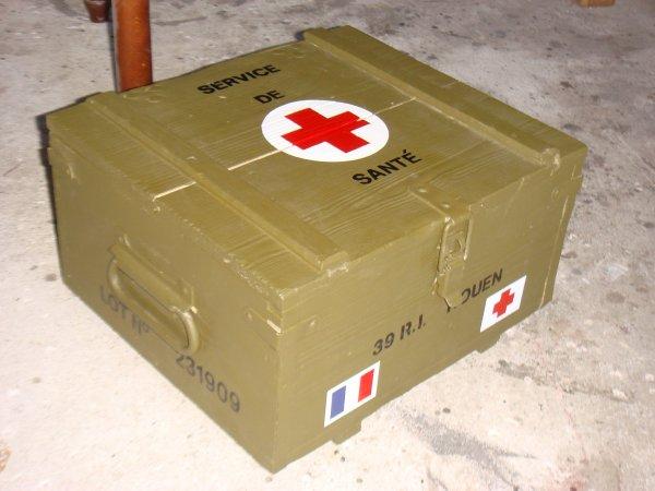 Caisse armée française 1940 : 39 R.I ROUEN Médic ....