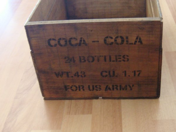 Caisse coca-cola type US WW2 ....