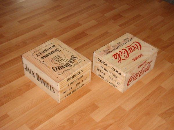 Caisses COCA-COLA & Jack Daniel's ( Pour David ) ....