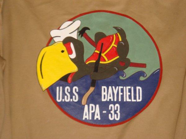 Blouson : USS.BAYFIELD - APA.33 ( Pour Jean Marc C. ) ....