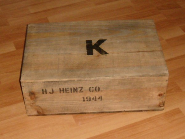 Caisse US WW2 12 Rations K - HJ HEINZ Co - 1944 .....