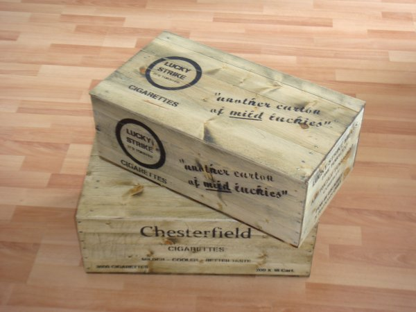 Caisses de cigarettes US WW2 ....