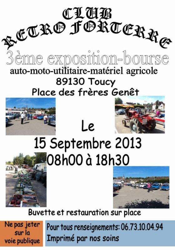 exposition bourse auto-moto-agricole le 15.09.2013 Toucy 89130