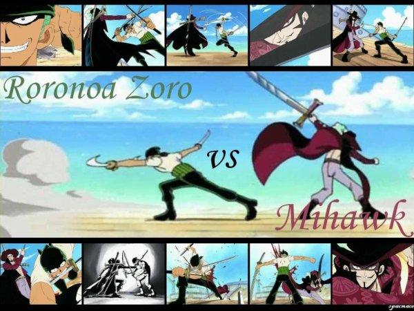Zorro vs mihawk