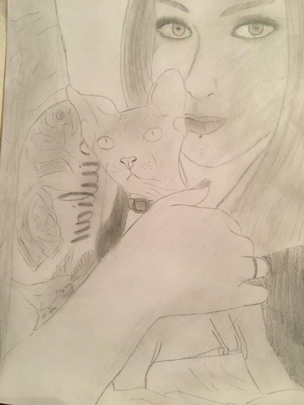Après quelque moi je recommence à dessiner