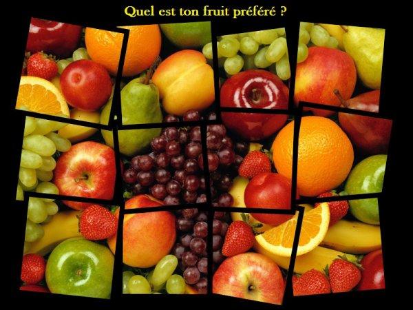 Sondage 1 : Fruits