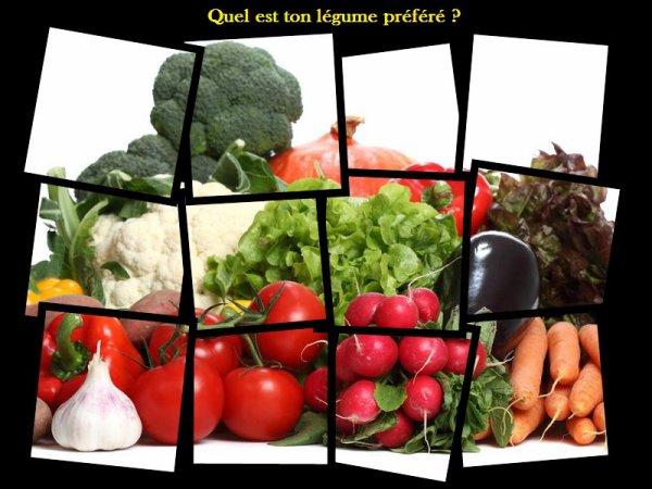 Sondage 5 : Légumes