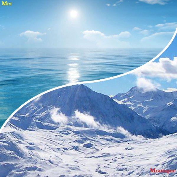 VS 1 : Mer / montagne