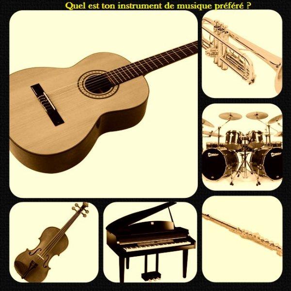 Sondage 20 : Instruments de musique