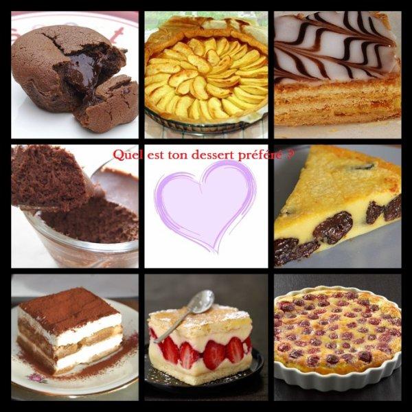 Sondage 36 : Desserts