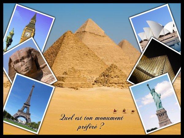 Sondage 47 : Monuments