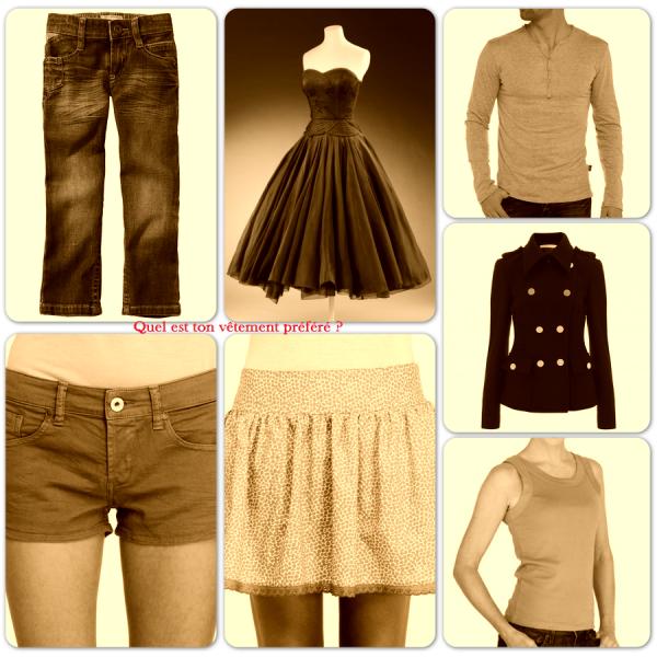 Sondage 50 : Vêtements