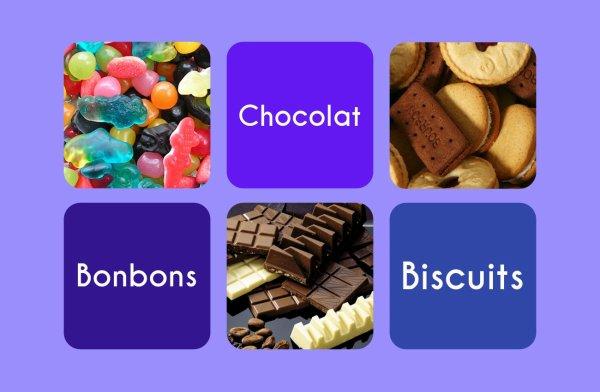 VS 28 : Bonbons / chocolat / biscuits