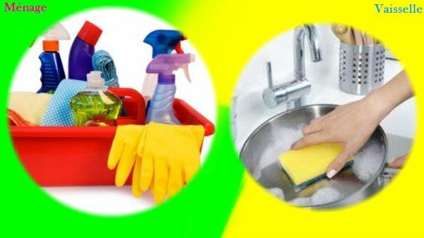 VS 33 : Ménage / vaisselle