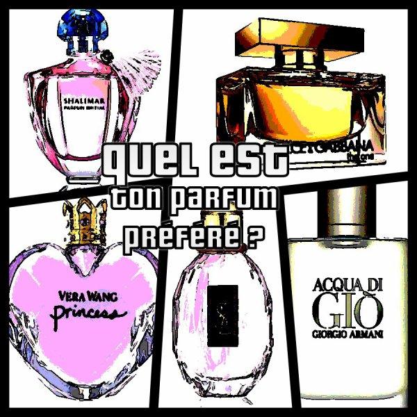 Sondage 61 : Parfums