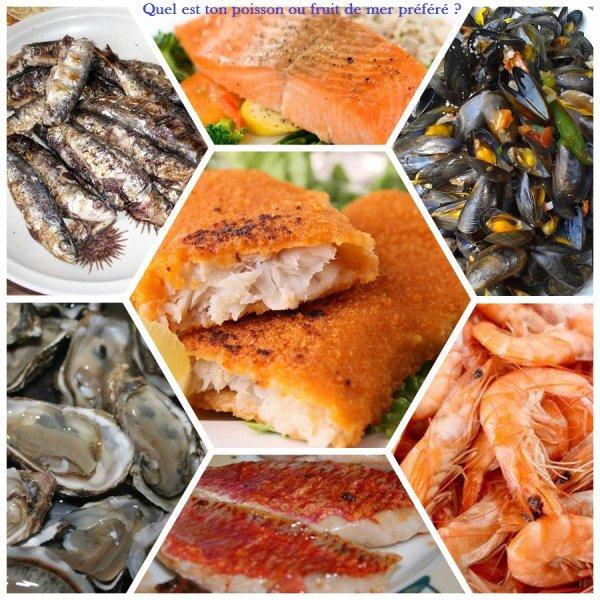 Sondage 68 : Poissons et fruits de mer