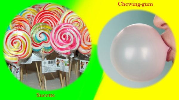 VS 38 : Sucette / chewing-gum